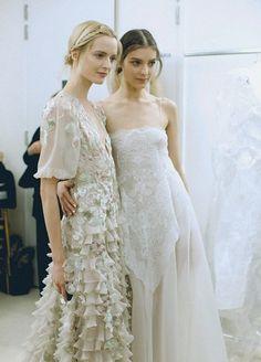 daria strokous and kati nescher backstage at valentino haute couture