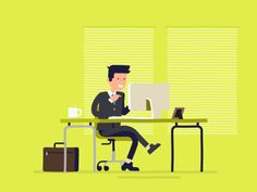 Busy Guy designed by Dirk Jan Haarsma. Vector Animation, Motion Graphs, Isometric Art, Youtube Logo, Best Icons, Gifs, Cool Animations, Aesthetic Gif, Anime Scenery
