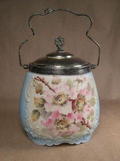 CF Monroe Wavecrest Biscuit Jar Great Color Nice | eBay
