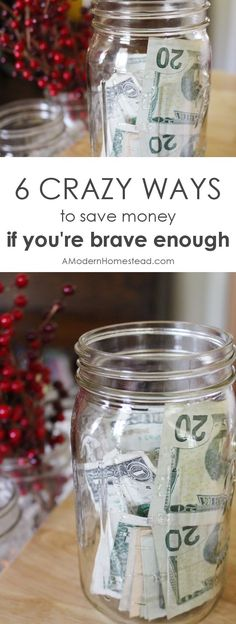 6 CRAZY WAYS TO SAVE MONEY,If youre brave enough,Finding crazy new ways for how to save money is a fun game! Here are 6 out of the box to save money, if you're brave enough! Living On A Budget, Frugal Living Tips, Frugal Tips, Savings Challenge, Savings Plan, Money Challenge, Saving Ideas, Money Saving Tips, Money Tips