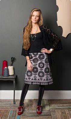Scandi Flowers A-line Skirt Ladies Dressmaking Kit Skirt Sewing, Skirt Patterns Sewing, Flower Skirt, Sewing Clothes, Dressmaking, A Line Skirts, Passion For Fashion, Print Patterns, 1970s