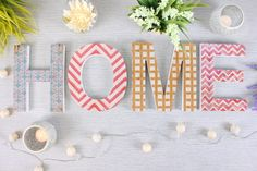 These stylish Alphabet wall letters are decorated with a different pattern on each letter and are a great way to brighten any room in the home
