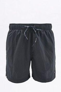 Tommy Hilfiger – Badeshorts in Schwarz mit Logo – Herren M