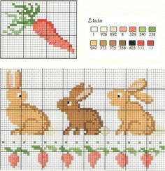 cross stitch bunny - Google Search