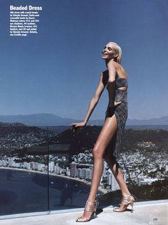 Nadja Auermann by Nicolas Moore for Allure, June 2004 Divas, Nadja Auermann, Perfect Legs, Size Zero, French Actress, Women Legs, Fashion Images, Strike A Pose, Beautiful Legs