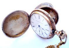 Antiguo Reloj Bolsillo  ELGIN NATIONAL WATCH Co. por shopvintage1