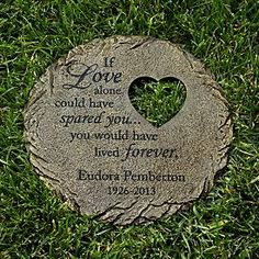 Cat Memorial Garden Stones Pet memorial garden stepping stone with a paw print and heart design memorial heart cut out stepping stone workwithnaturefo