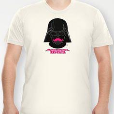 Darth Vader - Mustache Wars T-shirt by Aurelie Scour