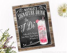 Personalized Signature Drink Sign Illustrated von RockinChalk