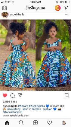 Latest Ankara Dress Styles - Loud In Naija Baby African Clothes, African Dresses For Kids, African Girl, Latest African Fashion Dresses, African Print Dresses, Dresses Kids Girl, African Children, Ankara Fashion, Dress Girl