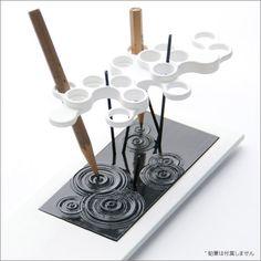 雲と雨と波紋のペンスタンド 水滴 - デスクを潤すデザインペン立て - fu-bi(フウビ)