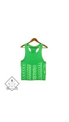 FREELoad GreenTnk  #wearableart #bleachedapparel #handmade #recycledtshirt #tanktop #fashion #hipster etsy.com/shop/freeloadapparel
