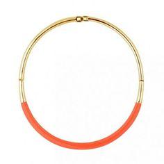 Principles by Ben de Lisi Designer peach enamel polished torque necklace   Debenhams