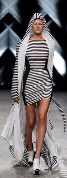 Gareth Pugh striped dress