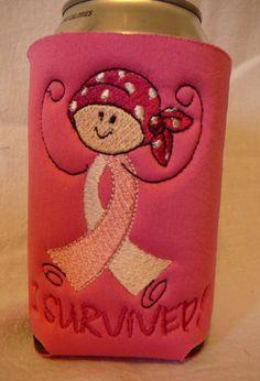 Bottle Cozy  Breast Cancer Awareness  I by lindasoriginals on Etsy, $7.00
