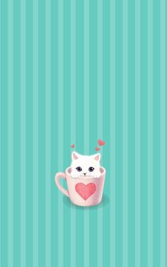 Appealing iphone simple funny cat wallpaper phone image for cute Funny Cat Wallpaper, Cute Wallpaper For Phone, Cute Wallpapers, Wallpaper Backgrounds, Iphone Wallpapers, Photo Chat, Cat Art, Funny Cats, Illustration