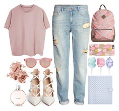 """""""Making mistakes"""" by melaniecleary ❤ liked on Polyvore featuring moda, Cotton Candy, H&M, Gianvito Rossi, Casetify, Le Specs, Chanel e Bobbi Brown Cosmetics"""