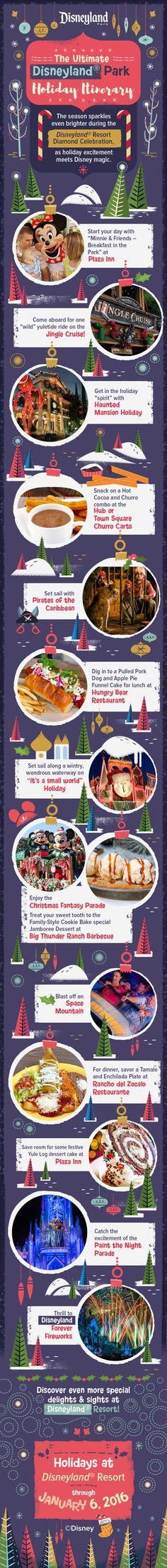 Make the season bright with this dazzling holiday itinerary at Disneyland Park!