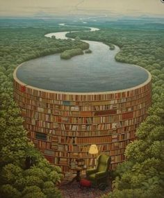 """This is called """"Behind Every Stack of Books There is a Flood of Knowledge"""""""