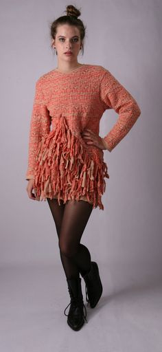 Pink Tassel Felted Sweater Dress from the 'Jas for Hanna' collection by Jas
