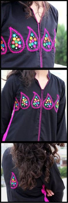 black with paisly embriodery, #sindhi