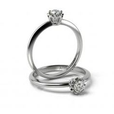Inel de logodna din aur alb cu diamant Ulise Aur, Gold Rings, Rose Gold, Engagement Rings, Bracelets, Womens Fashion, Jewelry, Enagement Rings, Wedding Rings