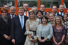 Met het koningspaar op de fotobij het staatsbezoek in Polen (Poznan)