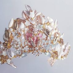 Tarnished Jewelry, Wire Jewelry, Purple Lilac, Coral Pink, Brenda Lee, Felt Bows, Crown, Bridal Headpieces, Fascinator
