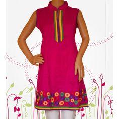 Sleeveless #EmbroideredKurti