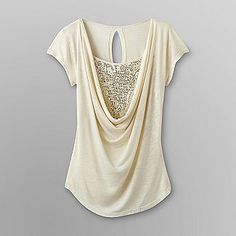 1f4fcee168c74 Dream Out Loud by Selena Gomez Junior s Sequined Drape Neck Top - Clothing  - Juniors -