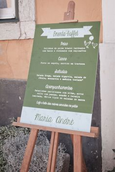 ADORO: Ementa de casamento // wedding Menu // Rustic Chic wedding
