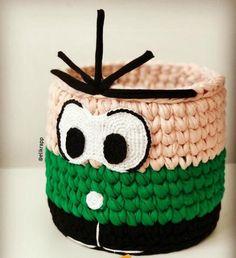 De Croche De Croche barbante De Croche com grafico De Croche de mao De Croche festa - Bolsa De Crochê Crochet Basket Tutorial, Crochet Box, Crochet Basket Pattern, Knit Crochet, Crochet Patterns, Knitting Videos, T Shirt Yarn, Paper Toys, String Art