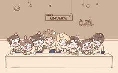Exo Anime, Anime Chibi, Kyungsoo, Chanyeol, Exo Cartoon, Exo Red Velvet, Exo Fan Art, Short Comics, Love Me Forever