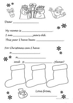 Letter to Father Christmas or the Magic Kings Father Christmas Letters, Letter To Father, Kids Christmas, Xmas, Christmas Stuff, Christmas Worksheets, Worksheets For Kids, Christmas Activities, Activities For Kids
