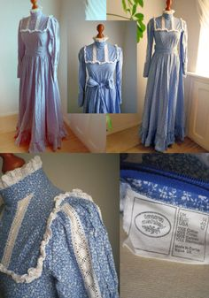 Vintage LAURA ASHLEY  prairy  blue floral MAXI by SuitcaseInBerlin, €175.00