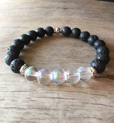 Excited to share the latest addition to my #etsy shop: Rainbow Moonstone Aromatherapy Bracelet , essential oil bracelet, lava stone bracelet, diffuser bracelet