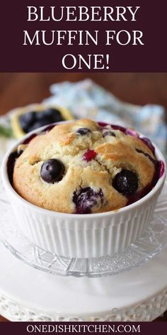 French Delicacies Essentials - Some Uncomplicated Strategies For Newbies Best Blueberry Muffin Recipe Single Serving One Dish Kitchen Mug Recipes, Muffin Recipes, Dessert Recipes, One Muffin Recipe, Cup Desserts, Salad Recipes, Recipies, Best Blueberry Muffins, Blue Berry Muffins