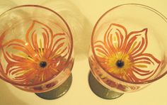 Hawaiian Flower Wine Classes by RMbowers on Etsy