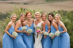 Can you even imagine hosting a wedding in Tuscany? It simply doesn't get more romantic, and this beautiful soiree captured by Amy Turner and planned to perfection by Super Tuscan Wedding Planners . Bridesmaid Dress Styles, Blue Bridesmaids, Wedding Bridesmaids, Wedding Dresses, Wedding Looks, Blue Wedding, Dream Wedding, Marry Your Best Friend, Tuscan Wedding
