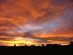 """Natural cloudscape photo taken in Billings, MT. I call this """"Good Morning Orange"""""""