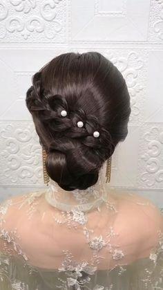 Hairdo For Long Hair, Bun Hairstyles For Long Hair, Braided Hairstyles Tutorials, Bride Hairstyles, Headband Hairstyles, Cute Hairstyles, Hairstyle Braid, Beautiful Hairstyles, Party Hairstyles