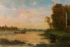 Charles-Francois Daubigny Summer Morning on the Oise, 1869, painting Authorized official website