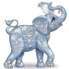 c944fc4c9a5 Amazon.com: Thomas Kinkade Dazzling Delight: Collectible Elephant Figurine  With Swarovski Crystal by The Hamilton Collection: Home & Kitchen