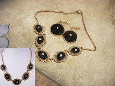 ANtique Edwardian Necklace Earrings Rose gold by vintagesparkles, $325.00
