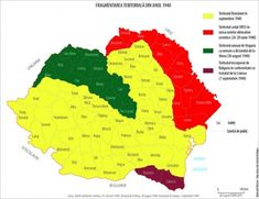 The administrative-territorial map of Romania in 1940 History Page, History Facts, Alternate History, Old Maps, Historical Maps, Film, Diagram, Image, Ernest Hemingway