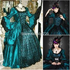Online Shop Freeshipping!On sale R-001 1860S Victorian Gothic/Civil War Southern Belle Ball Gown Dress Halloween dresses Sz US 6-26 XS-6XL Aliexpress Mobile