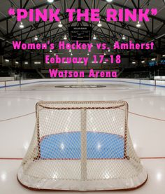 """BRUNSWICK, Maine- The Bowdoin College women's ice hockey team will host a """"Pink the Rink"""" fundraising event during their games against Amherst on February and as part of their efforts to raise money for breast cancer research. Breast Cancer Fundraiser, Breast Cancer Walk, Breast Cancer Awareness, Bowdoin College, Women's Hockey, Relay For Life, Health Center, Fundraising Events, How To Raise Money"""