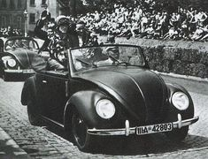 vorgestern: One of the first ever Volkswagen Beetles, then known as the KDF Wagen.