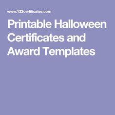 Halloween award certificate halloween certificate templates printable halloween certificates and award templates yadclub Choice Image