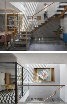 White Oak Wood, Neutral Colour Palette, Second Floor, Living Area, Staircase Ideas, Interior, House, Design, Home Decor